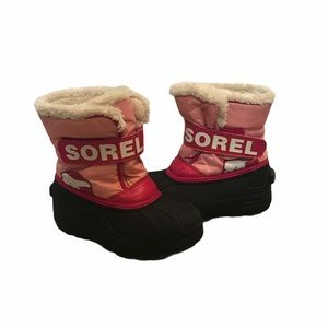 Sorel Girls Snow Boots Winter Pink Waterproof 13